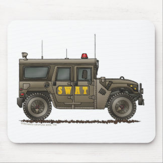 Police SWAT Team Hummer Law Enforcement Mouse Pad