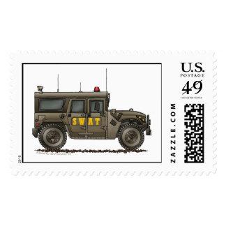 Police SWAT Team Hummer Stamps