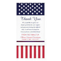 Police Sympathy Thank You Flag Thin Blue Line Card