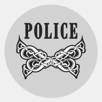 Police Tattoo Classic Round Sticker