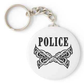 Police Tattoo Keychains