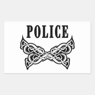 Police Tattoo Rectangular Sticker