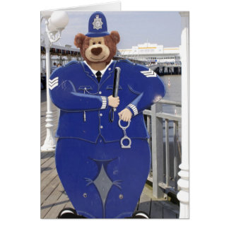 Police Teddy Bear Birthday Card