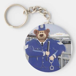 Police Teddy Bear Keychain