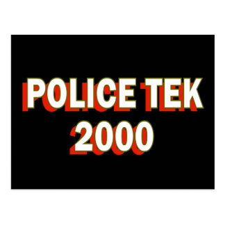 Police Tek 2000 Postcard