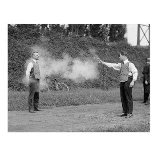 Police Test Bulletproof Vest, 1923 Postcard