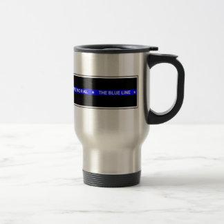 """Police """"The Blue Line Memorial"""" Travel Mug"""
