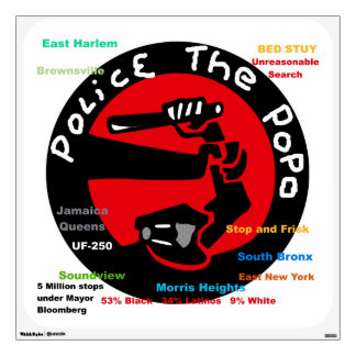 Police the PoPo anti NYC PD Stop and Frisk poster Wall Sticker