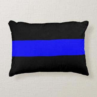 Police - The Thin Blue Line Accent Pillow