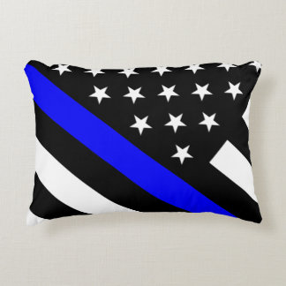 Police - The Thin Blue Line Flag Accent Pillow