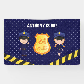 Police themed Birthday Party personalized Banner