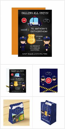 Police themed Birthday Party Suite
