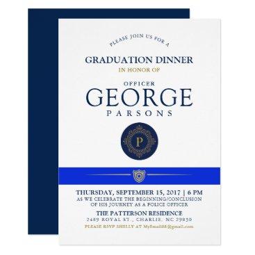 Police Themed Event | Dinner Monogram Invitation