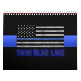 Police Thin Blue Line 3D Wall Calendars