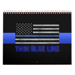 Police Thin Blue Line 3D Calendar