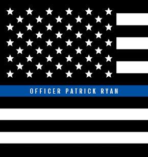 b64c4d474 Police Thin Blue Line American Flag Add Name 3 Ring Binder