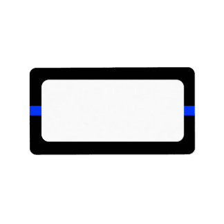 Police Thin Blue Line Blank Address Label