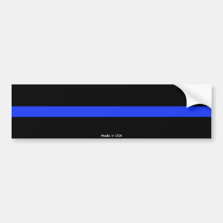 Police Thin Blue Line Bumper Sticker
