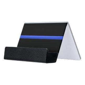 Police Thin Blue Line Desk Business Card Holder