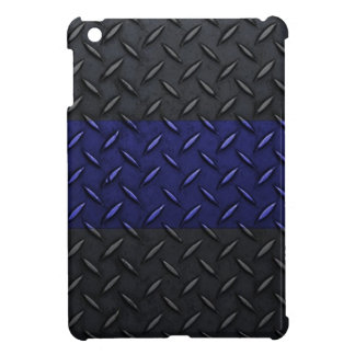 Police Thin Blue Line Diamond Plate Cover For The iPad Mini