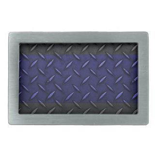 Police Thin Blue Line Diamond Plate Design Belt Buckles