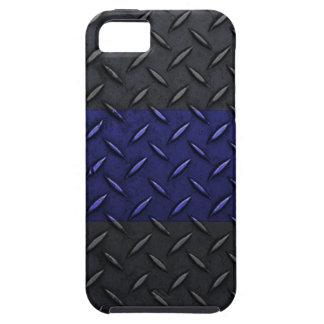 Police Thin Blue Line Diamond Plate Design iPhone 5 Cases