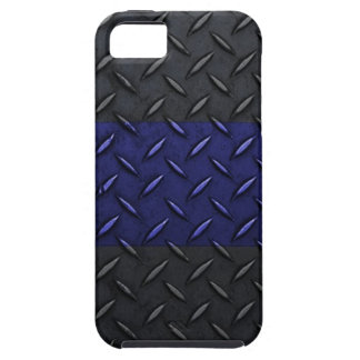 Police Thin Blue Line Diamond Plate Design iPhone SE/5/5s Case