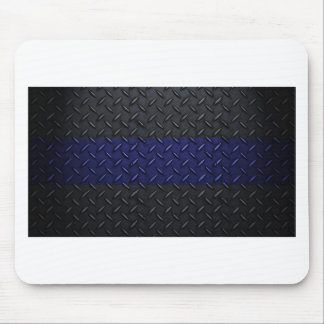 Police Thin Blue Line Diamond Plate Mouse Pad
