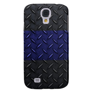 Police Thin Blue Line Diamond Plate Samsung Galaxy S4 Case