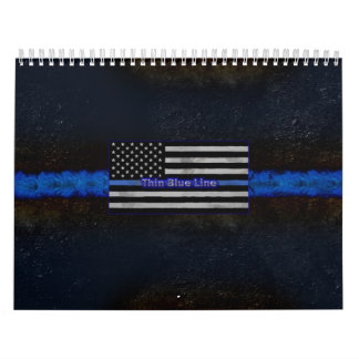 Police Thin Blue Line Flag Calendar