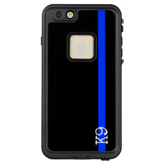 Police Thin Blue Line K9 or wht Initials LifeProof FRĒ iPhone 6/6s Plus Case