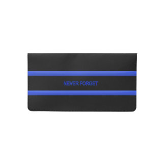 Police Thin Blue Line Never Forget Checkbook Cover