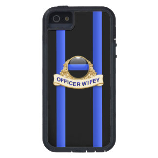 Police Thin Blue Line - Officer Wifey Tough Xtreme iPhone 5 Cases