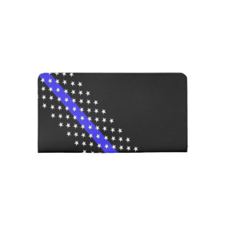 Police Thin Blue Line Stars and Stripes Checkbook Cover