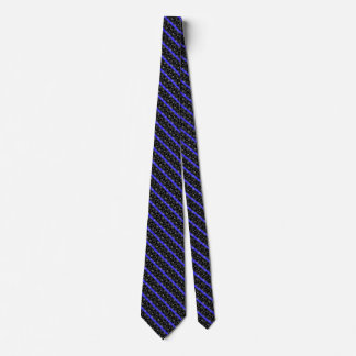 Police Thin Blue Line Stars and Stripes Neck Tie