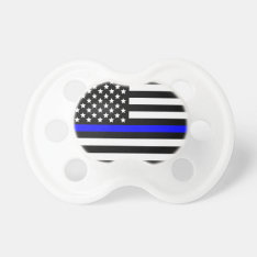 Police Thin Blue Line Support Pacifier at Zazzle