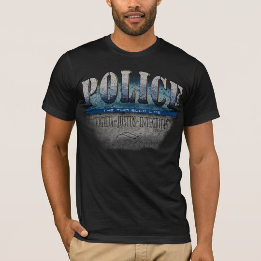 POLICE~Thin Blue Line T-Shirt