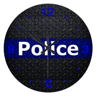 Police Thin Blue Line Wall Clock