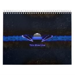 Police Thin Blue Line Wings Calendar