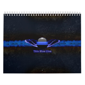 Police Thin Blue Line Wings Calendar