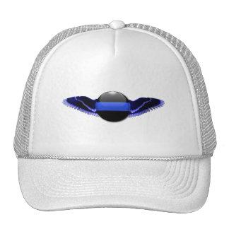 Police Thin Blue Line Wings Trucker Hat