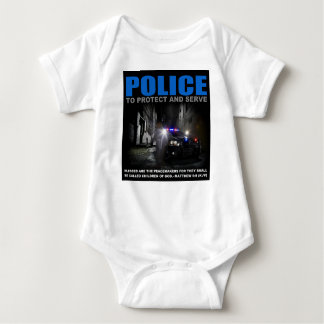 Police To Protect And Serve Blue Lives Matter Baby Baby Bodysuit
