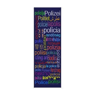 Police Translation Canvas Print
