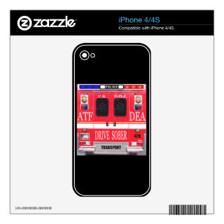 Police Transport Vehicle iPhone 4 Skin