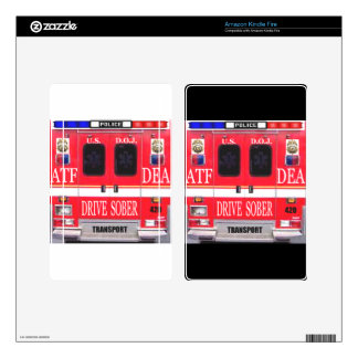 Police Transport Vehicle Kindle Fire Decals