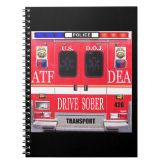 Police Transport Vehicle Spiral Note Book
