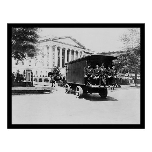 Police Treasury Building in Washington, DC 1927 Poster