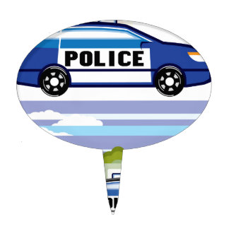 Police vehicle cake topper