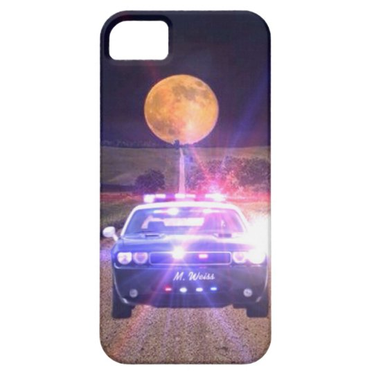 Police Vehicle On Patrol iPhone SE/5/5s Case