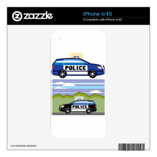 Police vehicle skins for iPhone 4S